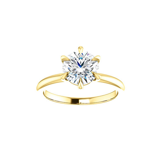 Desiree Six Prong Solitaire Engagement Ring
