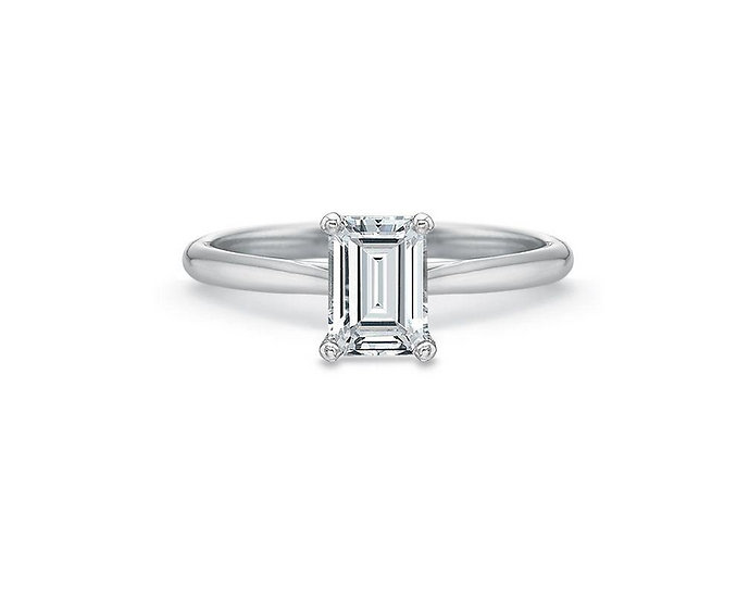 Valentina Emerald Solitaire Engagement Ring