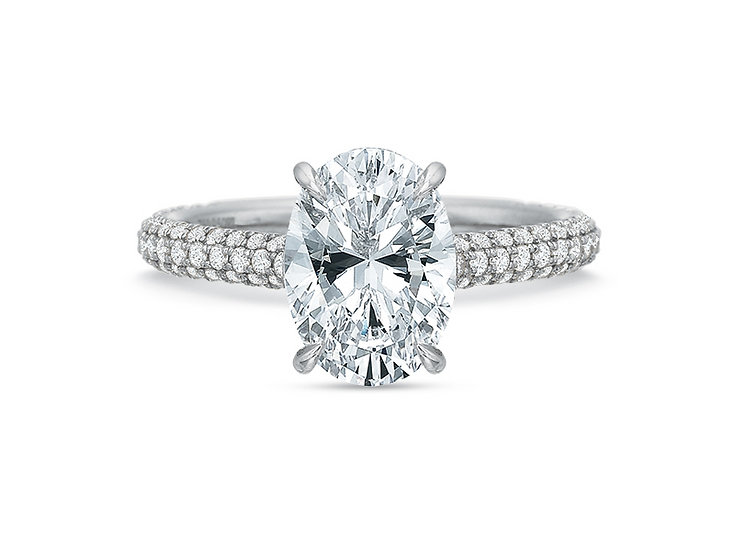 Vanessa Oval Diamond Engagement Ring