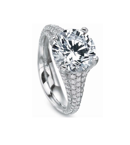 Pave Solitaire Diamond Ring Setting
