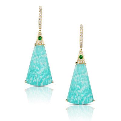 Amazonite Tsavorite Earrings