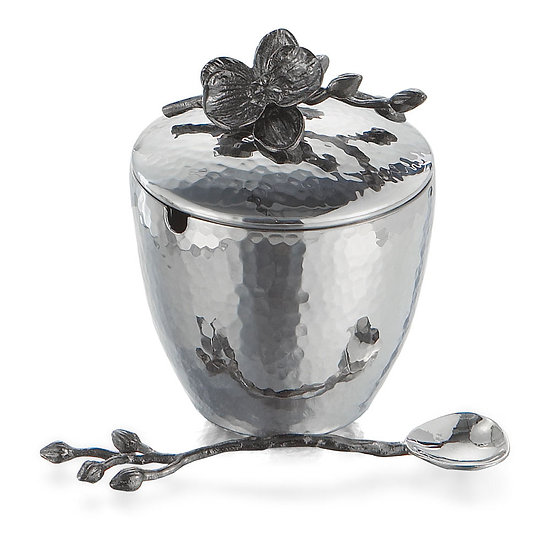 Black Orchid Mini Pot w/ Spoon