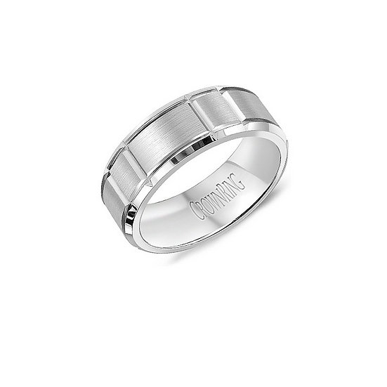 Mens Sandpaper Finish Wedding Band