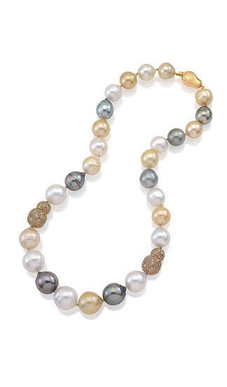 South Sea Diamond Pearl Necklace