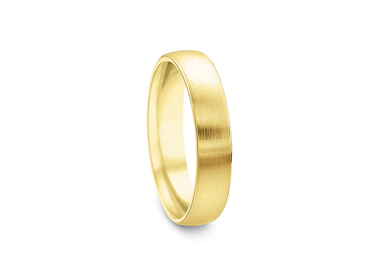 Mens 5mm Satin Finish Wedding Band