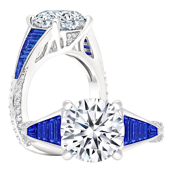 Sapphire Diamond Engagement Ring Setting