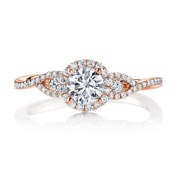 Infinity Allure Engagement Ring Setting