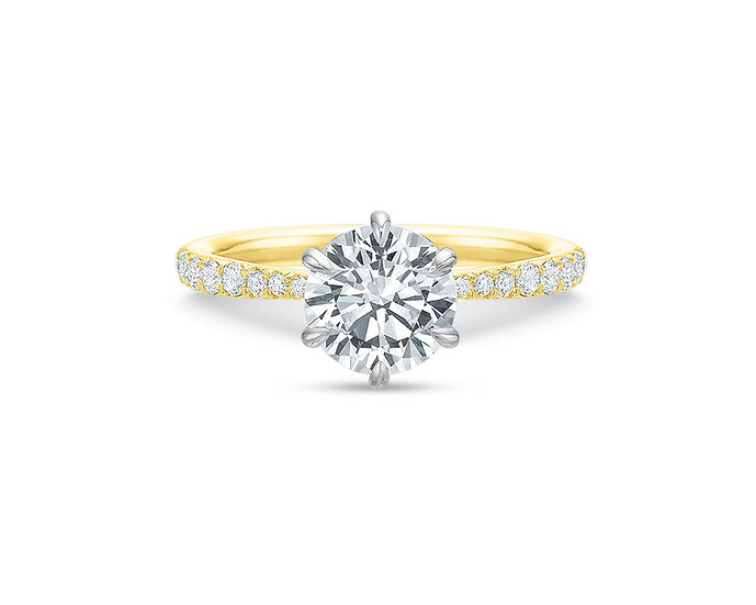 Desiree Diamond Six Prong Engagement Ring