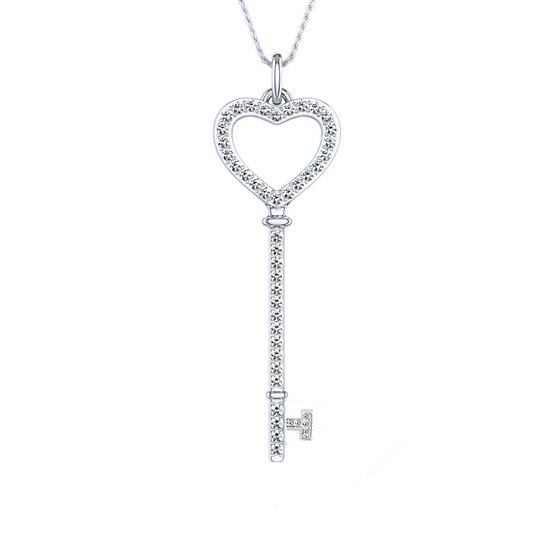 Diamond Key Pendant