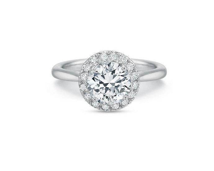 Olivia Round Halo Engagement Ring