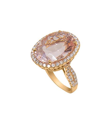 Oval Shape Morganite Ring