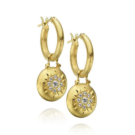Diamond Florentine Dangle Earrings