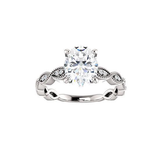 Infinity Oval Diamond Engagement Ring Setting