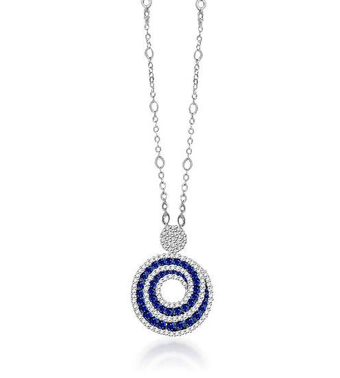 Sapphire Swirl Necklace