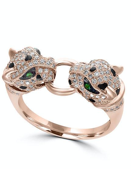 Panther Diamond Ring