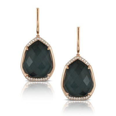 Hematite Diamond Earrings