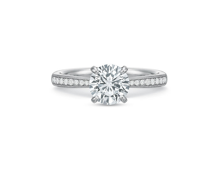 Quilted Solitaire Diamond Engagement Ring