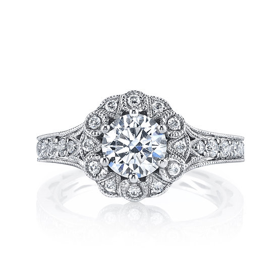 Grand Estates Halo Engagement Ring