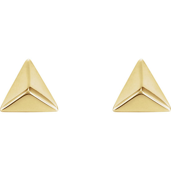 Gold Pyramid Earrings