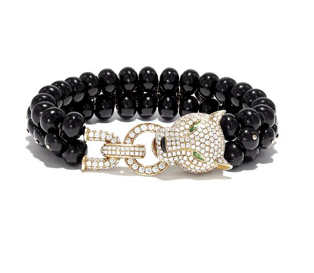 Diamond Panther Onyx Bracelet