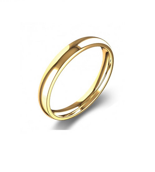 Men's 4mm Yellow Gold Wedding Band