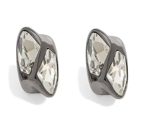 Atelier Swarovski Victoria Stud Earrings Black