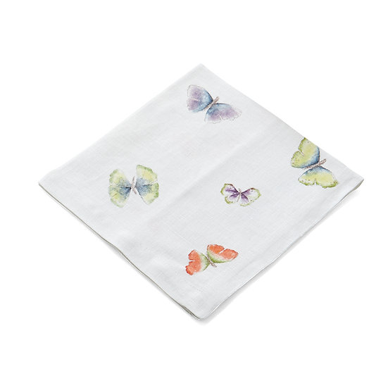 Butterfly Ginkgo Printed Dinner Napkin