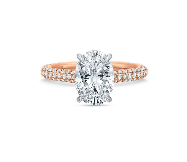Rose Vanessa Oval Diamond Engagement Ring