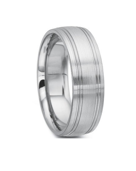 Men's 7mm flat wedding band