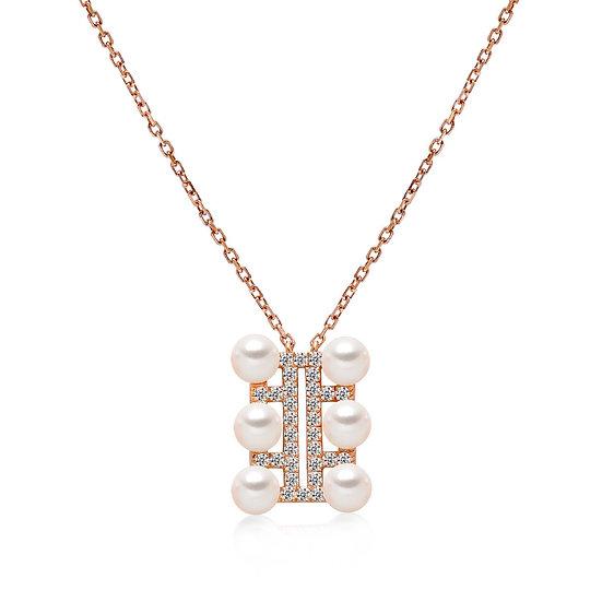 Akoya Pearl Diamond Pendant