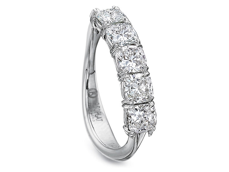 Five Stone Cushion Diamond Band