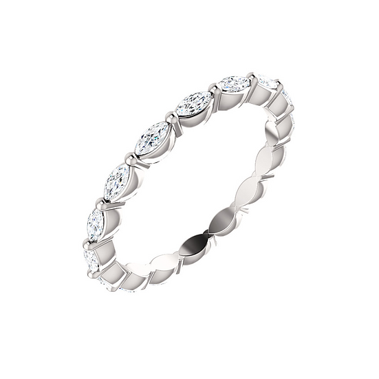 Marquise diamond eternity band