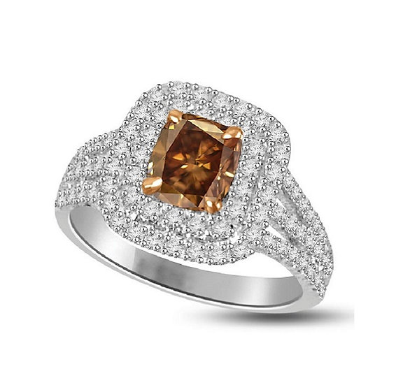 Brown Diamond Engagement Ring