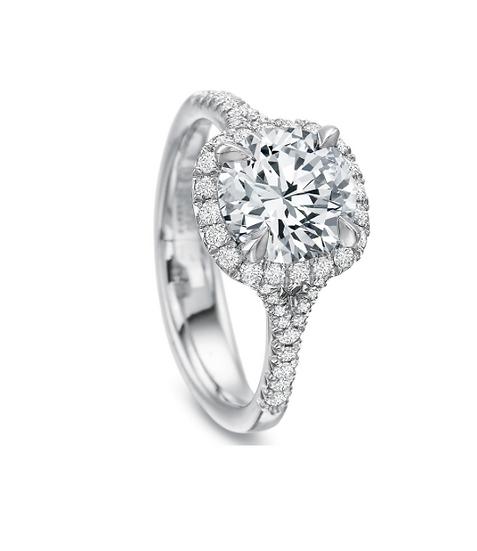Halo Split Shank Engagement Ring Setting