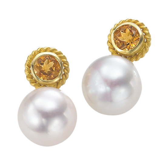 Pearl Citrine Earrings