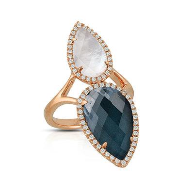 Hematite Diamond Ring