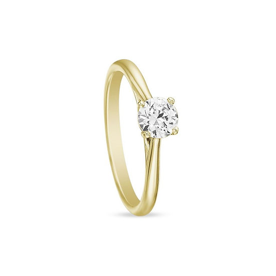 Yellow Gold Solitaire Engagement Ring Setting