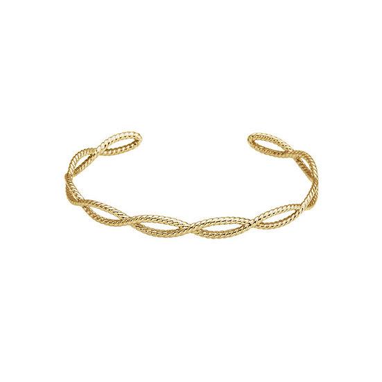 Gold Rope Cuff Bracelet