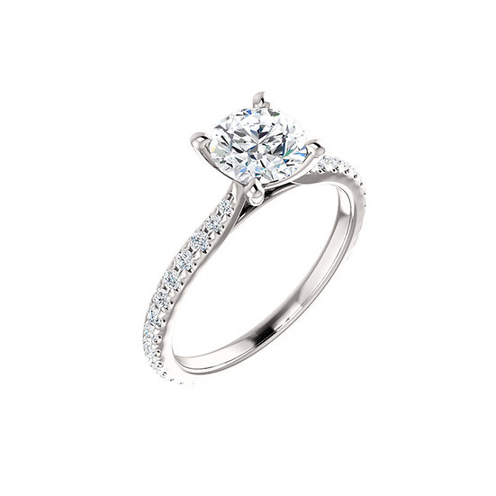 Brilliant Diamond Engagement Ring Setting