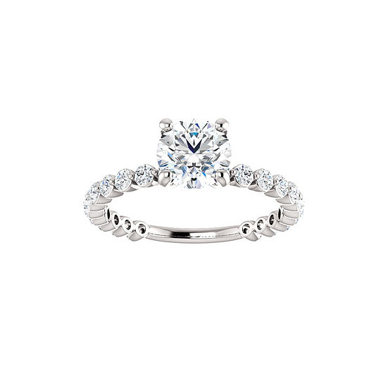 Diamond Accent Engagement Ring Setting