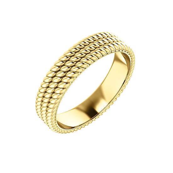 Layered Gold Rope Band