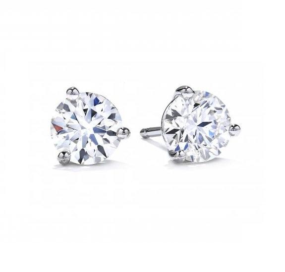 1.40cttw diamond stud earrings