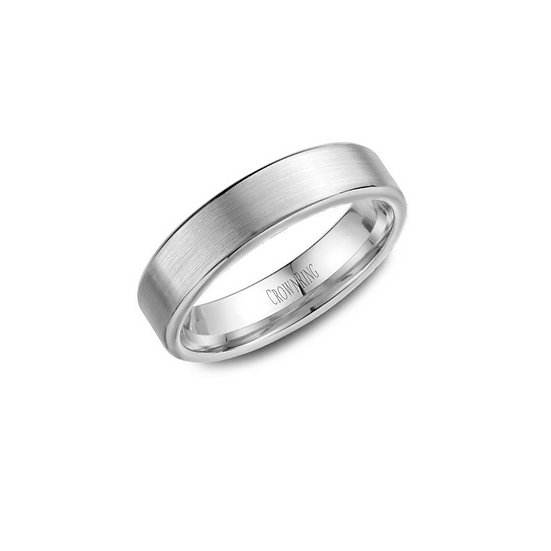 Mens Satin Finish Wedding Band