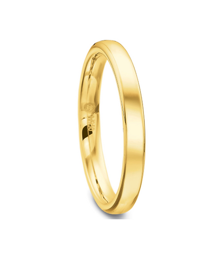3mm Yellow Gold Wedding Band