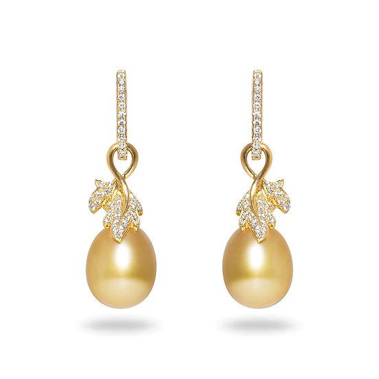 South Sea Golden Leaf Earrings