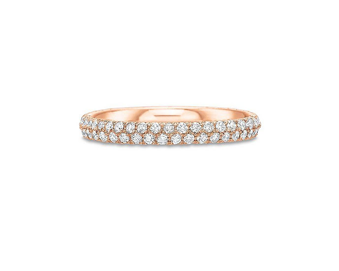 Two Row Pave Eternity Band