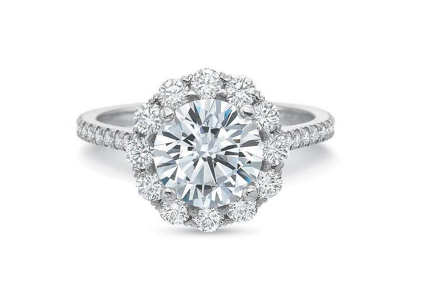 Blossom Diamond Halo Engagement Ring Setting