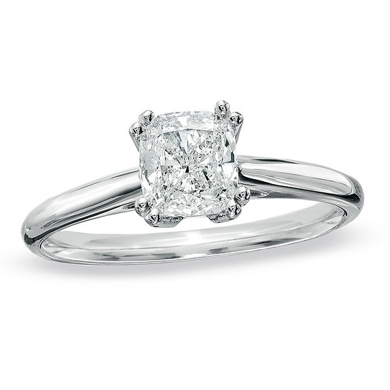 Cushion diamond solitaire ring setting