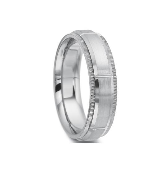 6mm coin edge wedding band