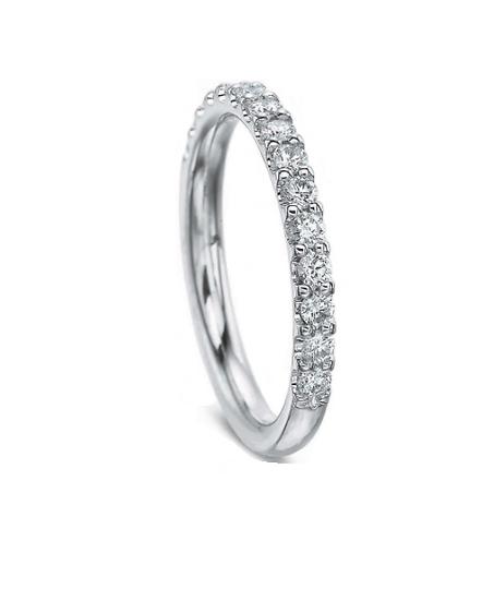 Diamond Share Prong Wedding Band